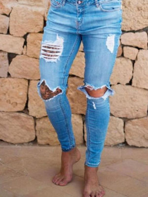 SINNERS DESTROYED JEANS – LIGHT BLUE