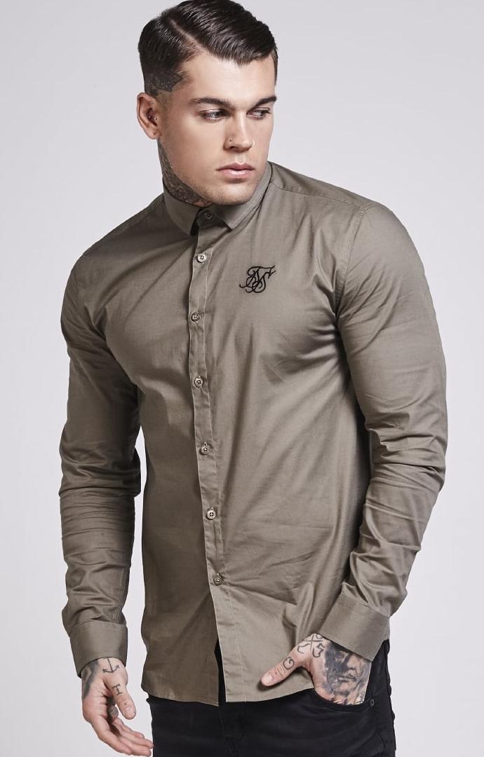 siksilk-long-sleeve-poly-stretch-shirt-khaki-p1464-12696_image