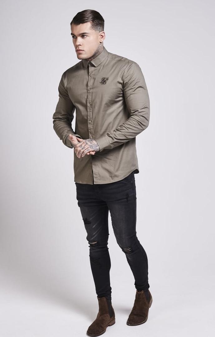 siksilk-long-sleeve-poly-stretch-shirt-khaki-p1464-12697_image