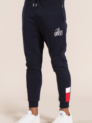 BEE INSPIRED SETANA SWEATPANTS – NAVY/RED