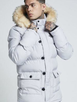 SIK SILK PUFF PARKA JACKET – GREY